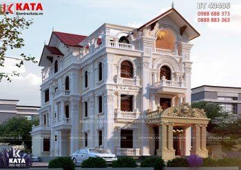 Nhà kiến trúc Pháp 4 tầng tân cổ điển tại Hải Phòng – Mã số: BT 43406