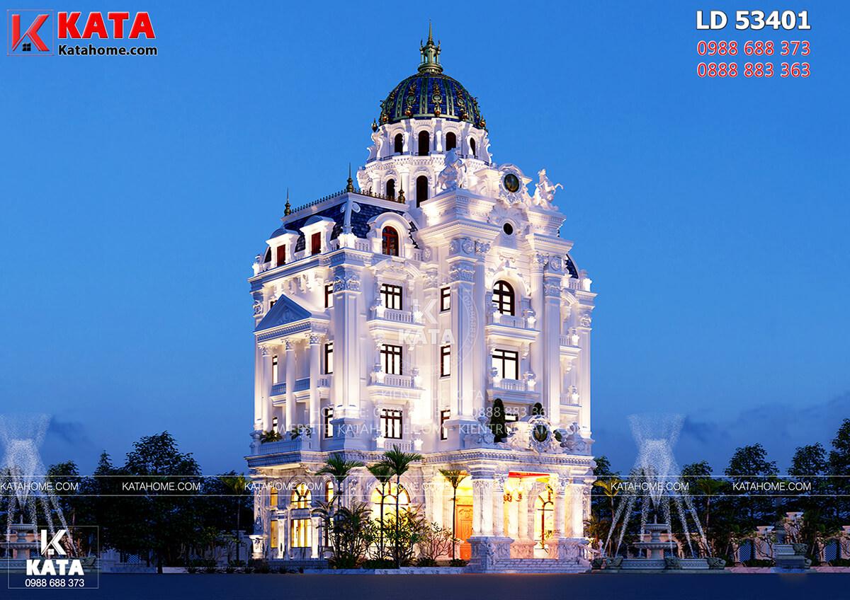 Thiết kế lâu đài tân cổ điển 5 tầng tại Ninh Bình – Mã số: LD 53401