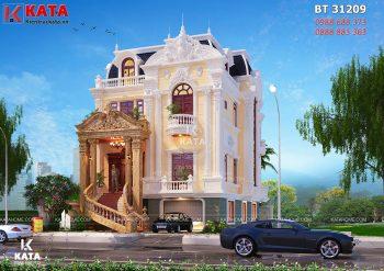 Mẫu nhà 3 tầng tân cổ điển mặt tiền 10m tại Bắc Ninh – Mã số: BT 31209