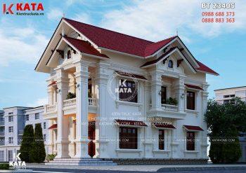 Mẫu nhà 2 tầng mái Thái đẹp ấn tượng tại Hải Dương – Mã số: BT 23405