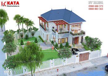 Mẫu biệt thự nhà vườn mái thái 2 tầng đẹp tại Hà Nội – Mã số: BT 21231