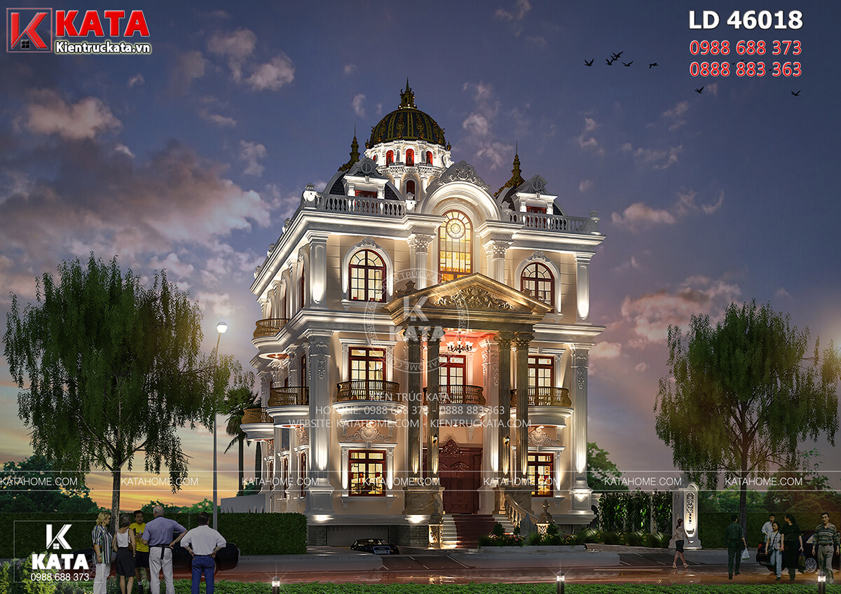 Lâu đài dinh thự đẹp 4 tầng tân cổ điển tại Long An - Mã số: LD 46018