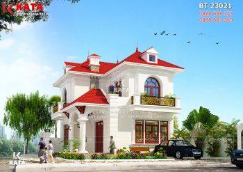 Biệt thự mini kiểu Pháp 2 tầng đẹp tại Hưng Yên – Mã số: BT 23021