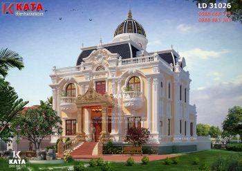 Biệt thự tân cổ điển 3 tầng đẹp độc đáo tại Hải Phòng – Mã số: LD 31026