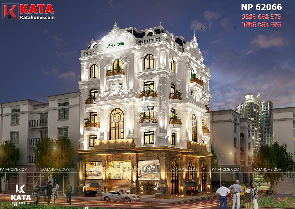 Mẫu thiết kế nhà ở kết hợp văn phòng cho thuê tại Thanh Hóa lộng lẫy về đêm