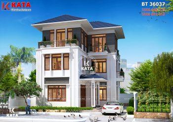 Biệt thự mái Thái hiện đại 3 tầng đẹp tại Đông Anh – Mã số: BT 36037