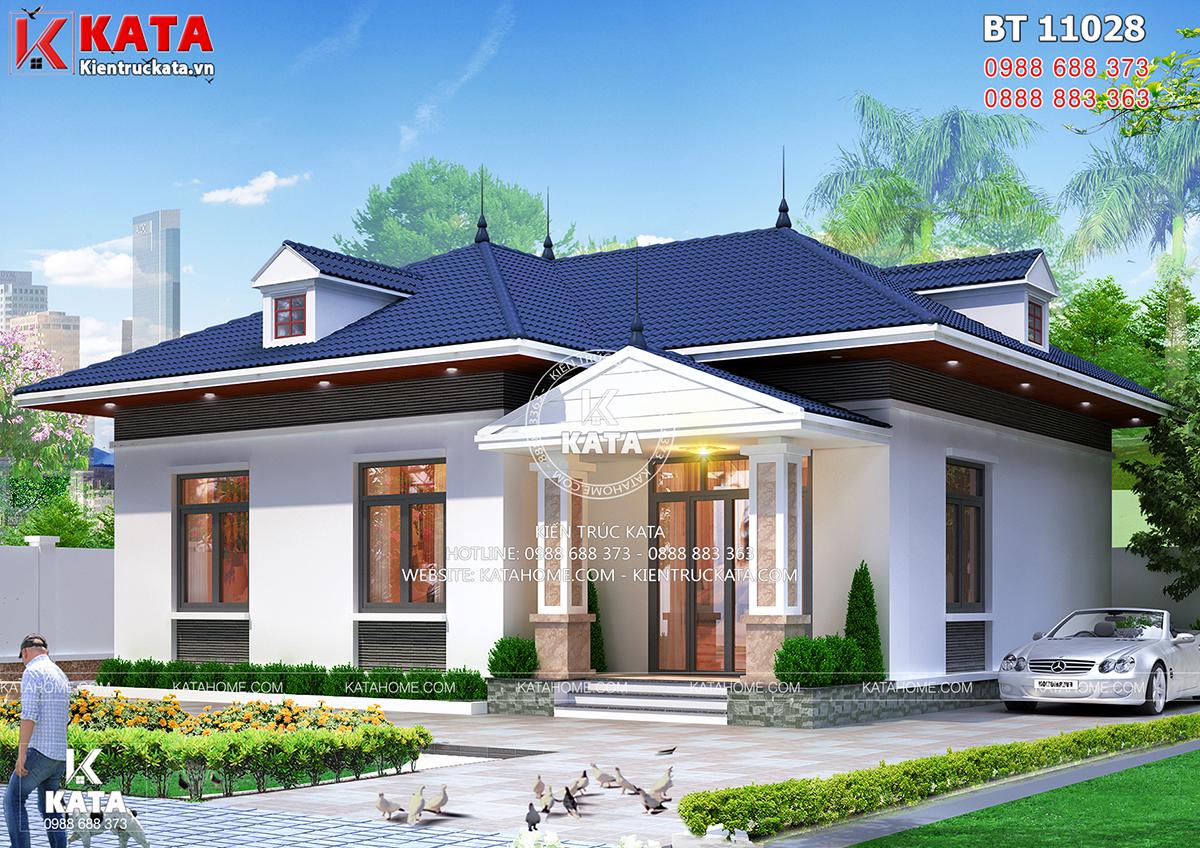Mẫu nhà cấp 4 đẹp 4 phòng ngủ đơn giản tại Thanh Hóa - Mã số: BT 11028