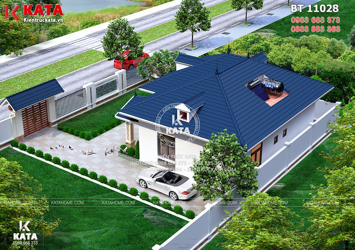 Một góc view của mẫu nhà cấp 4 đẹp 4 phòng ngủ đơn giản tại Thanh Hóa