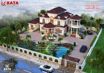 Thiết kế nhà đẹp 2 tầng sân vườn rộng tại Lạng Sơn – Mã số: BT 21027