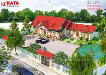 Thiết kế nhà 1 tầng mái thái đẹp tại Nam Định – Mã số: BT 11014