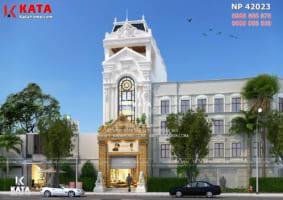 Thiết kế nhà phố đẹp 4 tầng kiến trúc tân cổ điển tại Nghệ An – Mã số: BT 42023