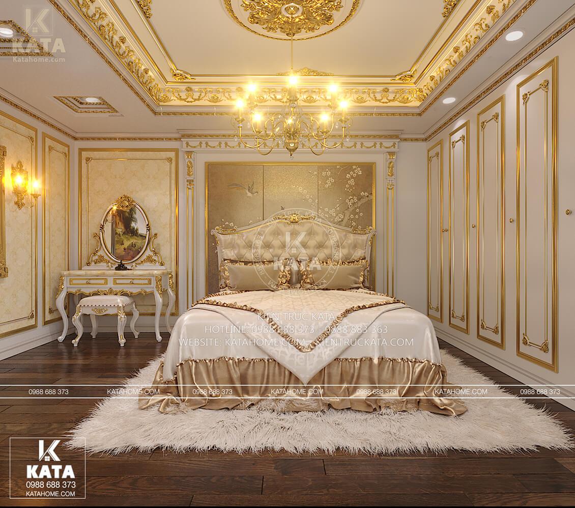 Thiết kế nội thất tân cổ điển sang trọng và đẳng cấpn cho không gian phòng ngủ