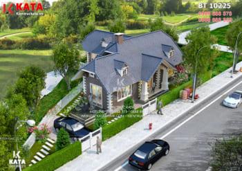 Mẫu biệt thự nhà vườn kiểu châu Âu đẹp tại Đà Lạt – Mã số: BT 10225