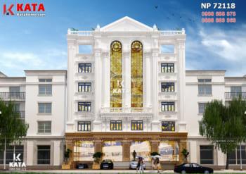 Thiết kế mặt tiền nhà hàng kiến trúc tân cổ điển tại Hà Nội – Mã số: NP 72118