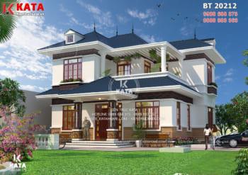 Mẫu nhà vườn 2 tầng mái Thái đẹp tại Hải Phòng – Mã số: BT 20212
