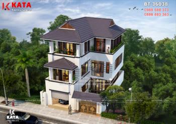 Mẫu nhà 3 tầng mái thái đẹp hiện đại tại Nam Định – Mã số: BT 36038