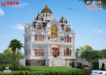 Biệt thự tân cổ điển 3 tầng mái chóp đẹp tại Phú Thọ – Mã số: BT 30225