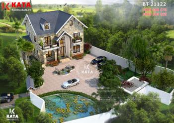 Thiết kế nhà 2 tầng đẹp mới lạ tại Hà Nội – Mã số: BT 21122