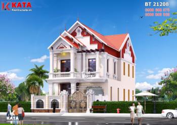 Mẫu nhà 2 tầng đẹp nhiều mái tại Nam Định – Mã số: BT 21208