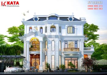 Mẫu biệt thự 3 tầng đẹp tân cổ điển tại Hà Tĩnh – Mã số: BT 31302