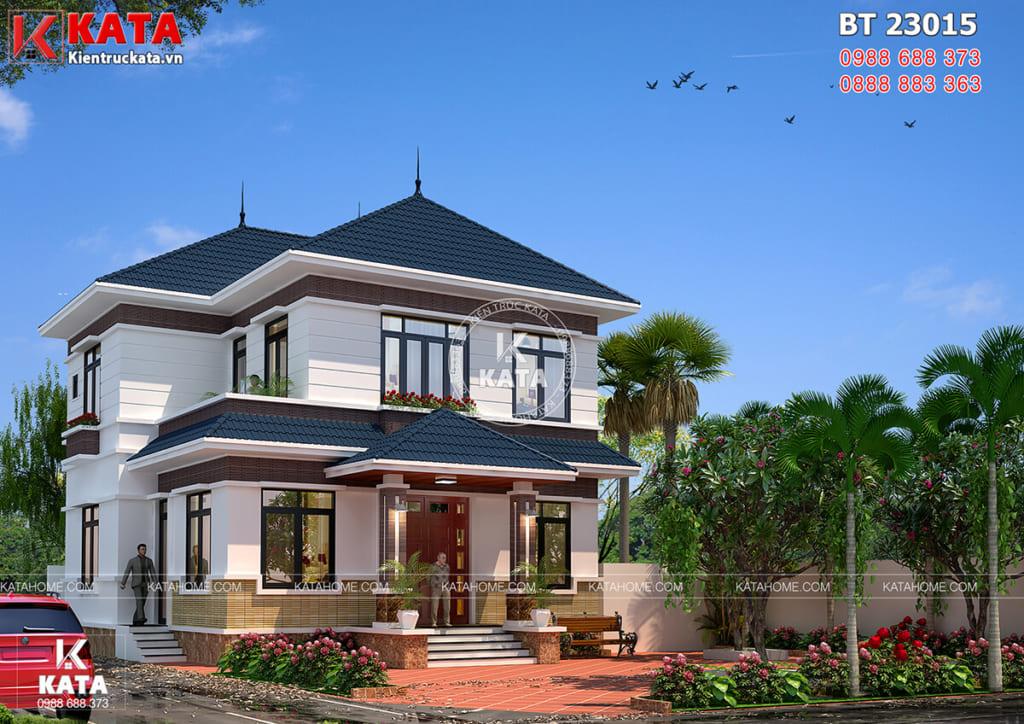 Mẫu nhà vườn 2 tầng 100m2 đẹp tại Sóc Sơn - Mã số: BT 23015