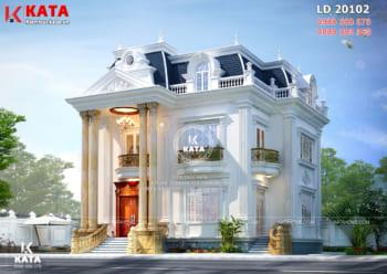 Thiết kế biệt thự Pháp tân cổ điển 2 tầng 1 tum – Mã số: BT20102