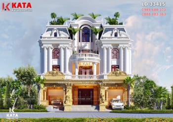 Mẫu biệt thự tân cổ điển 3 tầng 250m2 tại Nghệ An – Mã số: BT 33415