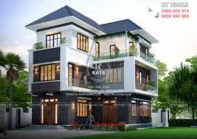 Biệt thự chữ L 3 tầng sang trọng tại Quảng Ninh – Mã số: BT 33018