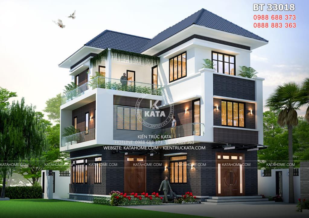 Biệt thự chữ L 3 tầng sang trọng tại Quảng Ninh - Mã số: BT 33018