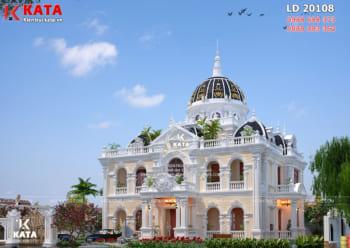 Thiết kế biệt thự lâu đài tân cổ điển đẹp 2 lầu tại Lâm Đồng – Mã số: LD20108