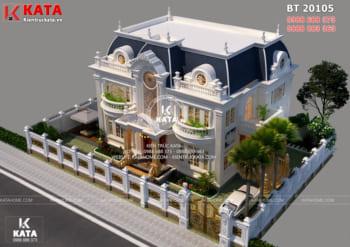 Biệt thự tân cổ điển đẹp 1 trệt 2 lầu tại Thành phố Hồ Chí Minh – Mã số BT 20105