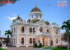 Mẫu dinh thự lâu đài 2 tầng tân cổ điển tại Bắc Giang – Mã số: LD 21106