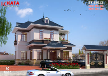 Mẫu nhà đẹp 2 tầng mái Thái 100m2 tại Thái Bình – Mã số: BT 23012