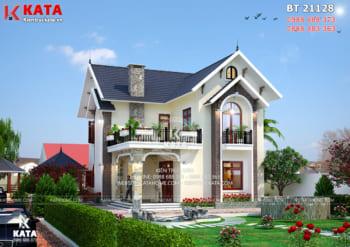 Mẫu nhà mái thái 2 tầng đẹp tại Hà Nội – Mã số: BT 21128