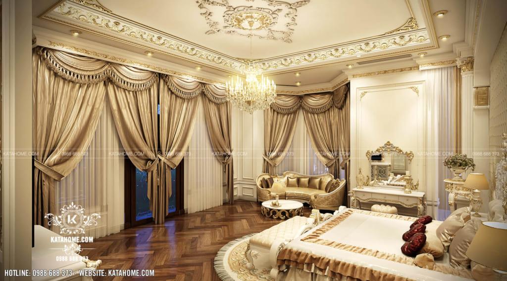 Thiết kế nội thất tân cổ điển đẹp cho phòng ngủ