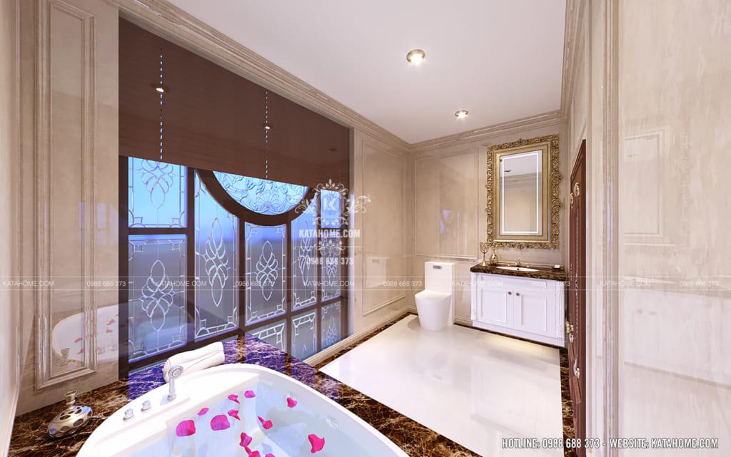 Thiết kế nội thất nhà vệ sinh sang trọng ấn tượng