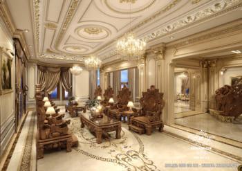 Mẫu thiết kế nội thất tân cổ điển đẹp cho dinh thự tại Sài Gòn – Mã số: NT 33406