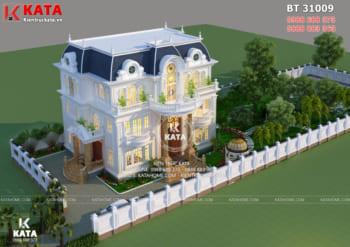 Mẫu biệt thự tân cổ điển 3 tầng đẹp tại Vĩnh Long – Mã số: BT 31009