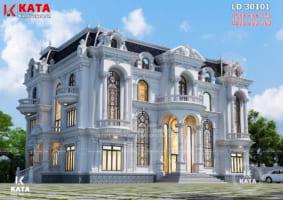 Mẫu thiết kế lâu đài dinh thự 3 tầng tân cổ điển đẹp – Mã số: LD 30101