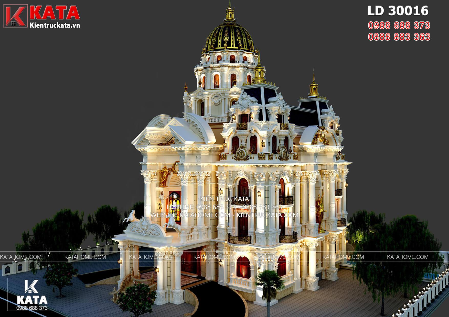 Dinh thự lâu đài 4 tầng tân cổ điển đẹp hút hồn – LD 30016