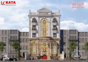 Thiết kế khách sạn đẹp 3 sao mặt tiền 15m – Mã số: NP 61010