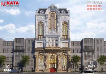 Mẫu thiết kế nhà mặt tiền 12m đẹp 5 tầng sang trọng – Mã số: NP 61018