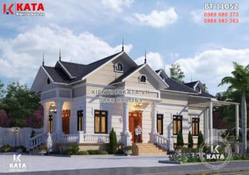 Thiết kế nhà 1 tầng cấp 4 đẹp độc đáo tại Thanh Hóa – BT 11052