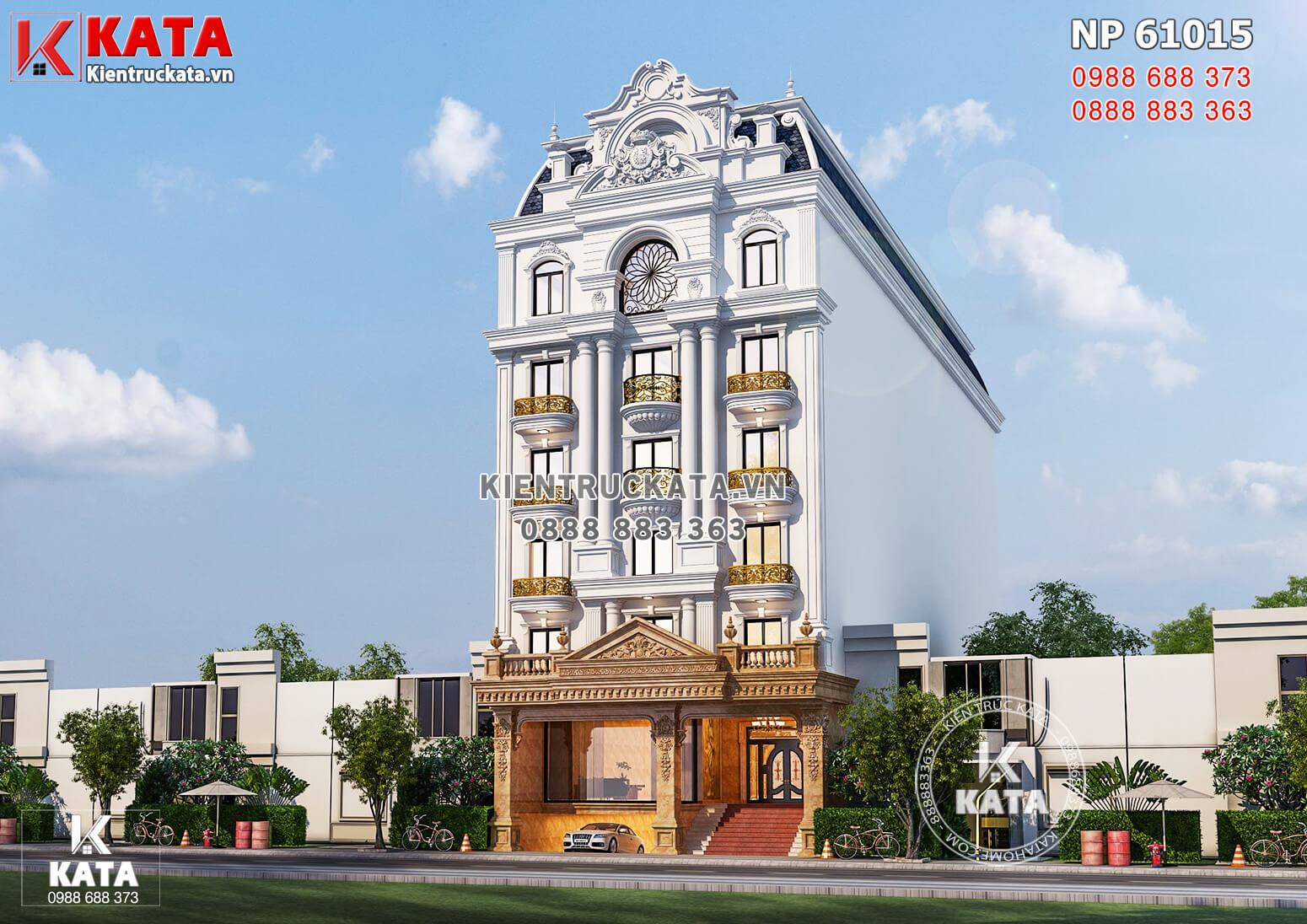 Hình ảnh: Tổng thể kiến trúc hoàn mỹ của mẫu nhà mặt tiền 12m cho thuê văn phòng