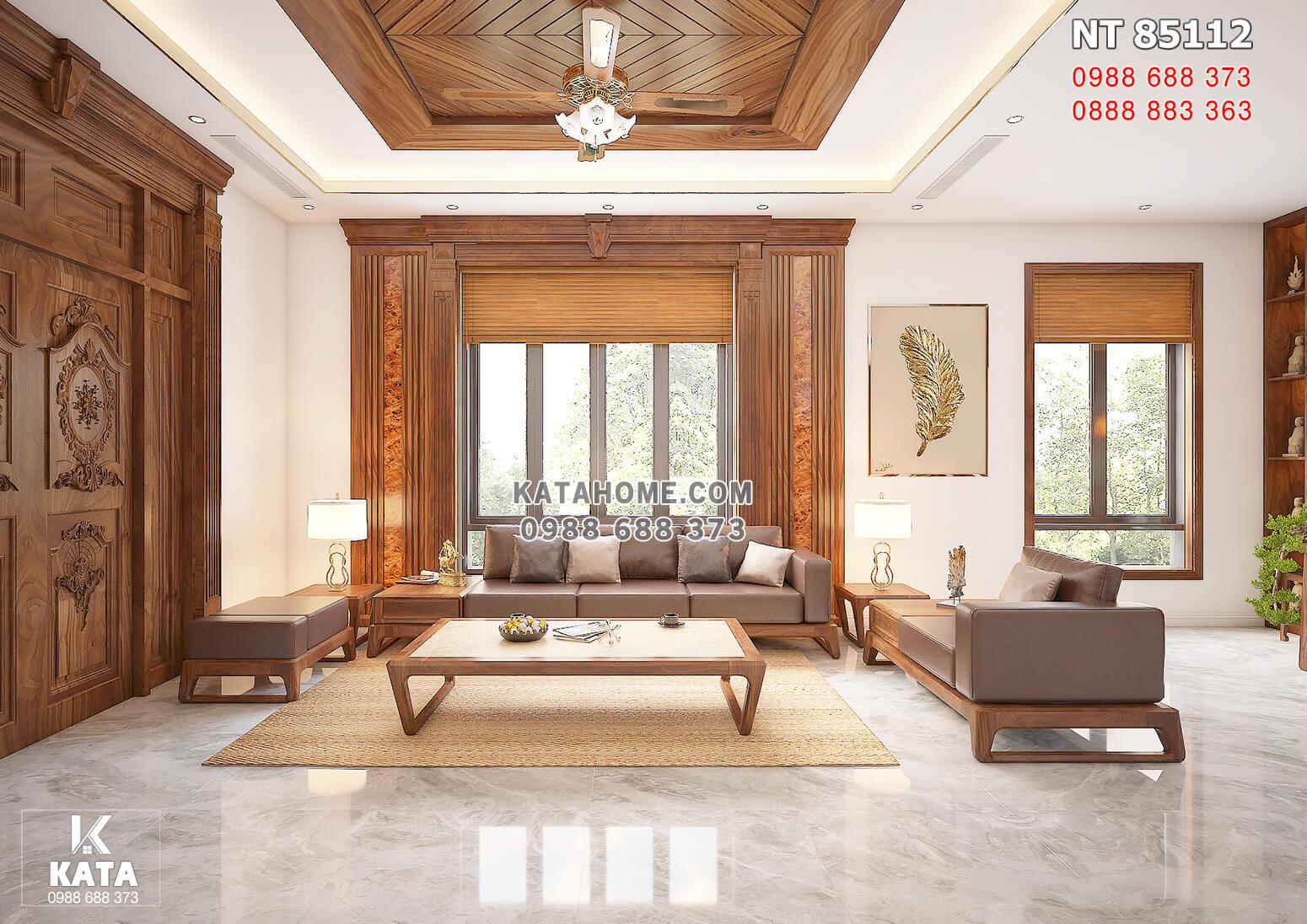 Hình ảnh: Không gian nội thất gỗ óc cho cho phòng khách