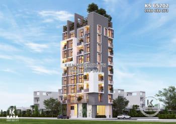 Mẫu thiết kế khách sạn 3 sao hiện đại đẹp – KS 65202