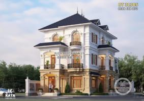 Mẫu thiết kế biệt thự 3 tầng tân cổ điển đẹp KATA – BT 31305