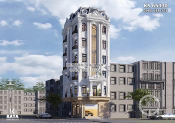 Giải pháp thiết kế khách sạn 3 sao đẹp cao 7 tầng – KS 65330