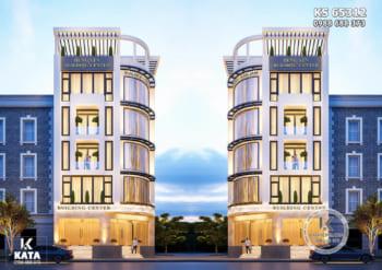 Thiết kế tổ hợp văn phòng tòa nhà cho thuê kinh doanh hiện đại và sang trọng – KS 65312