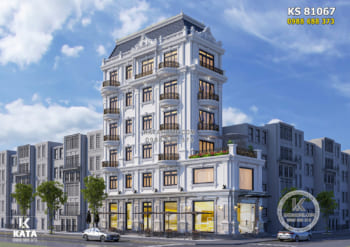 Thiết kế khách sạn mini 2 mặt tiền đẹp – KS 81067
